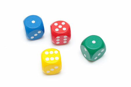 Dice concept for business risk, chance, good luck or gambling