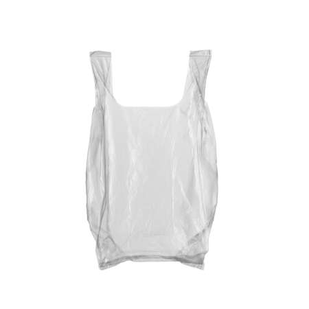 enviroment: A plastic bag isolated on white Stock Photo