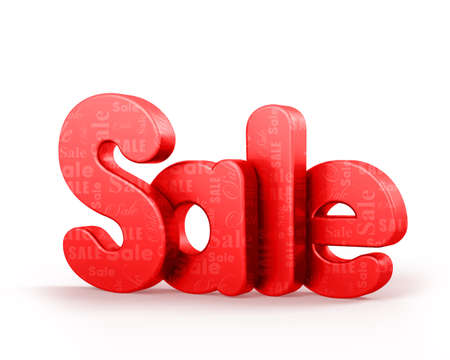 sales floor: 3D Rendered Sale Text in Red Color With Pattern