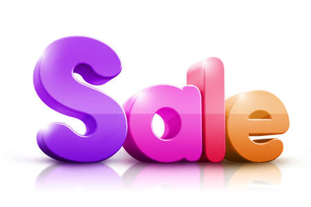 Colorful 3D Rendered Sale Word photo