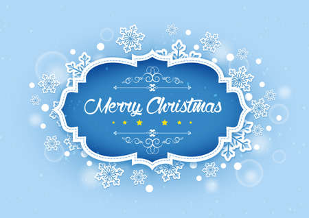 snows: Merry Christmas Elegant Background in Winter Snows