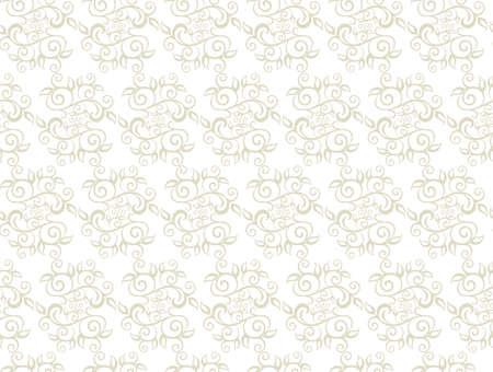 whorls: Elegant Seamless Pattern of Floral Vintage CLassic Vines. Vector Illustration