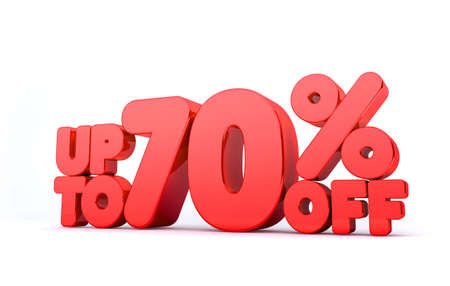 pay off: Up to 70% Off 3D Render Red Word Isolated in White Background