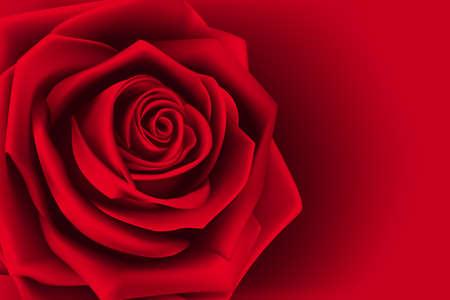 バレンタインの日の甘い赤いバラ。メッシュのベクトル図