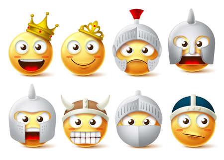 Conjunto de caracteres vectoriales de cara sonriente.