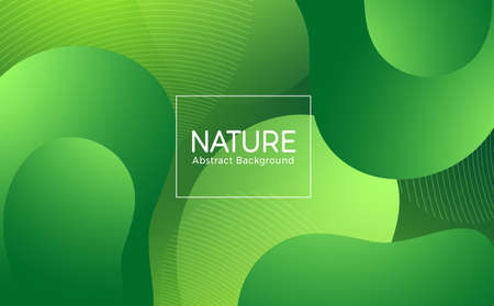 Nature vector abstract template design. Nature abstract background text with green geometric gradient shape element for environment wallpaper. Vector illustration