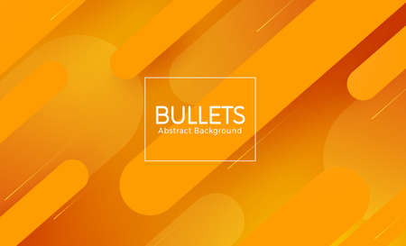Bullet abstract vector banner design. Bullets abstract in orange background text with bullet shape element for geometric background. Vector illustration