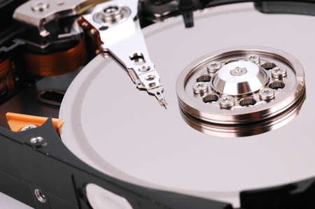 close up photo of hard disk