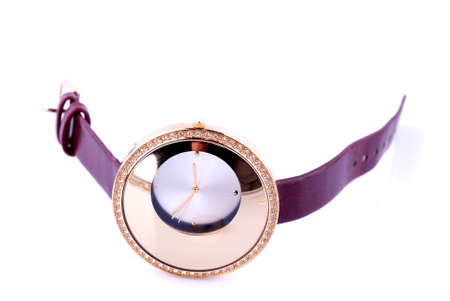 watch with diamond on white background
