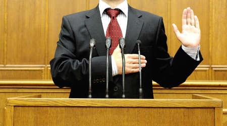 oath: politician taking the oath