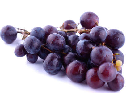 Fresh grapes isolated on the white background
