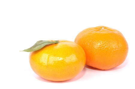 mandarin oranges on white background