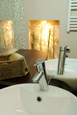 details of bathroom a new modern home Stock Photo - 12190658