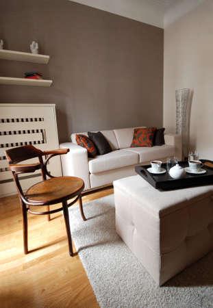 interior living: Living room of a new modern home