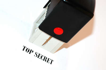 Top secret stamp test on paper and seal photo