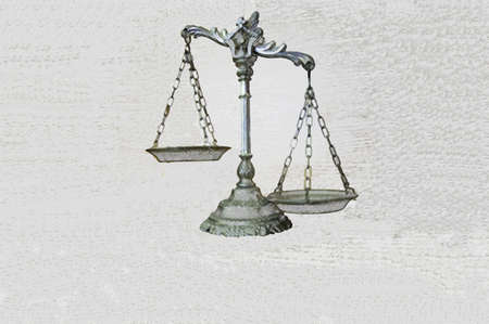 illustration of decorative scales of justice illustration
