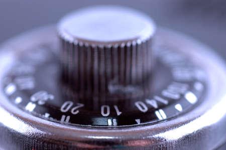 combination safe: Macro shot of a combination safe lock button