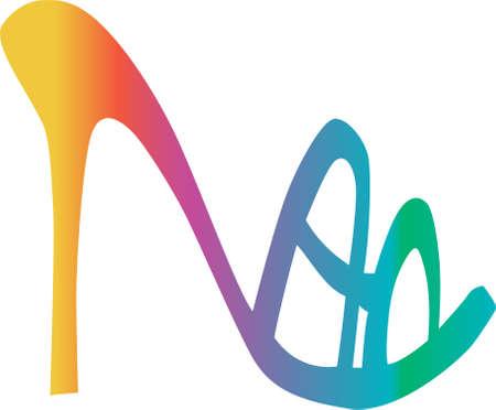 fetish: Colorful Fashion women shoe vector on the white background Illustration