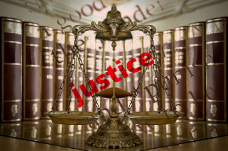 jury: Symbol of law and justice and Dictionary definition of Justice