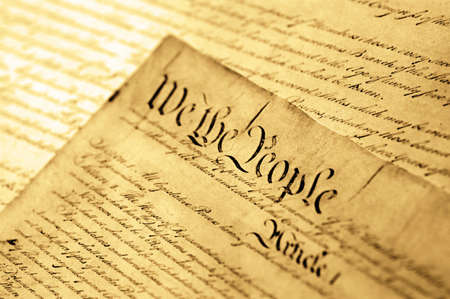 constitucion: Estados Unidos Declaraci�n de la Independencia, foco suave Foto de archivo