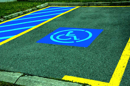 striping: Parking space reserved for Handicapped