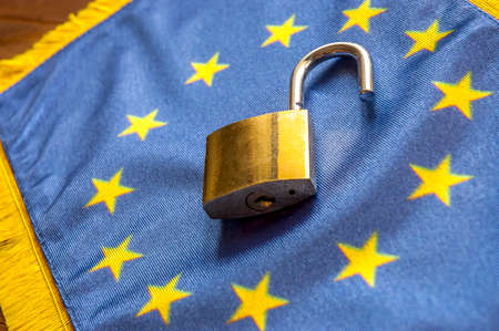 political system: Europe opened Borders, concept of open European Union borders. SOFT FOCUS Stock Photo
