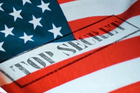 미국 국기의 최고 비밀 스탬프