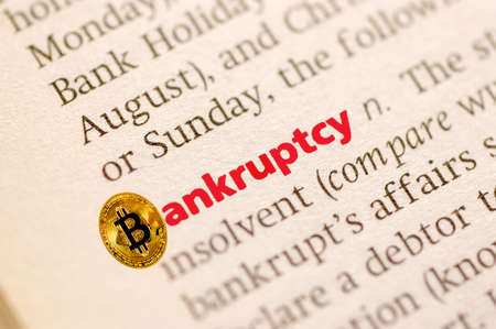 Dictionary definition of bankruptcy with bitcoin currency