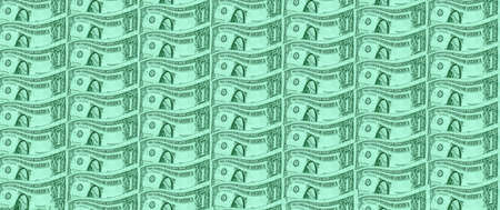 a background of one US dollar banknote
