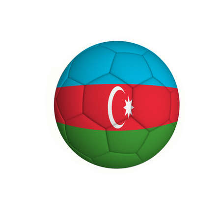 Soccer ball with an Azerbaijani flag isolated on white background