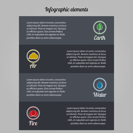 environmental issues: Elements of infographics on environmental issues Illustration