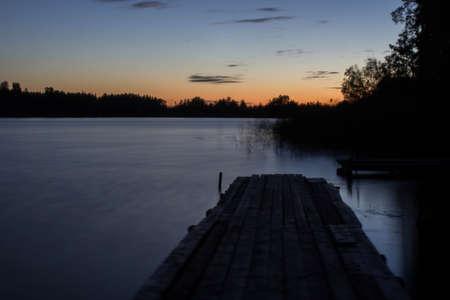 ladoga: Dawn over Lake Ladoga, Russia