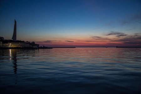 Sunset in the city of Sevastopol