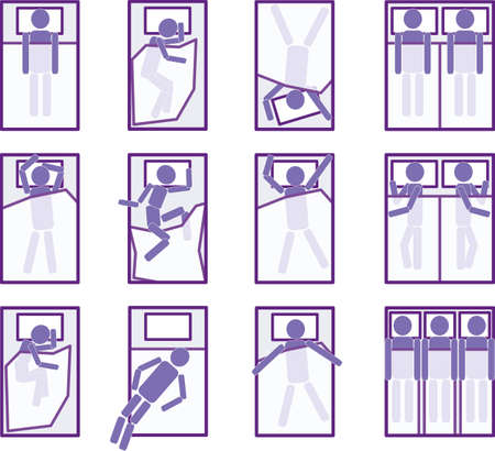 Sleeping positions Vector