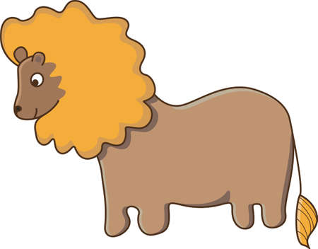 Nice lion isolated Illustration