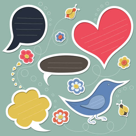 Set of cute text frames Illustration
