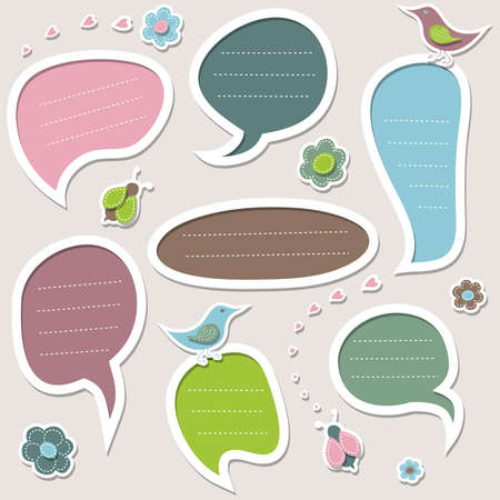 Set of speech bubbles. Vector design elements