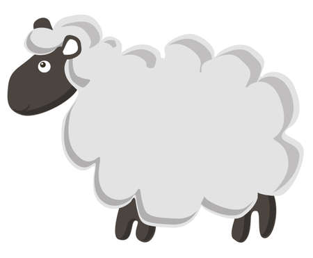 herbivore: Lovely vector sheep isolated on white background