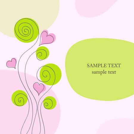 Romantic background. Vector design elements