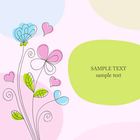 Hand drawn background.  Vector design elements