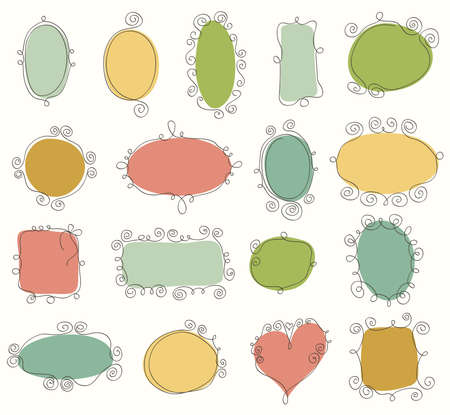 Collection of doodle frames Stock Vector - 13696693