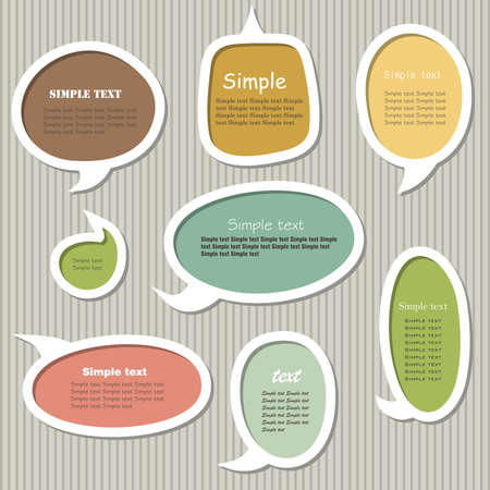 Collection of speech bubbles.  Vector