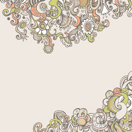 Romantic background with flowers and space for text Illustration