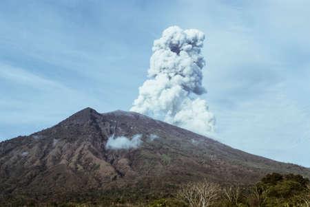 Agung volcano eruption, Bali, Indonesia Stock Photo