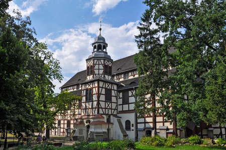 Wooden Peace Church in Jawor, Lower Silesia, Poland, Kaczawskie Mountains