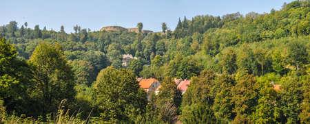 Srebrna Gora in the Owl Mountains (Gory Sowie), Poland, Lower Silesia Stock Photo