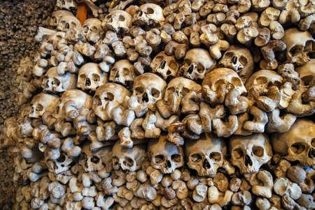 Memento mori - Chapel of Skulls in Kudowa Zdroj, Poland, Stolowe Mountains Zdjęcie Seryjne