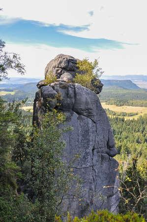 Szczeliniec Wielki Stolowe Mountains National Park near Kudowa-Zdroj resort, Lower Silesia, Poland Gory Stolowe