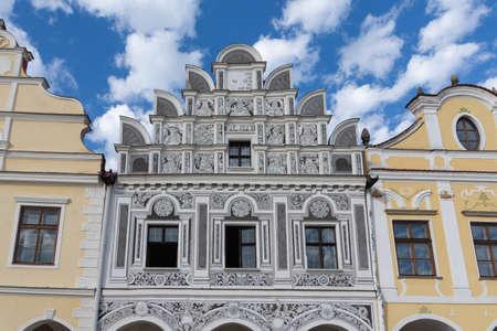 Renaissance attic of a tenement house, the city of Telc, southern Czech republic Reklamní fotografie