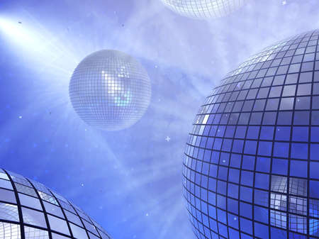 background of the mirror balls